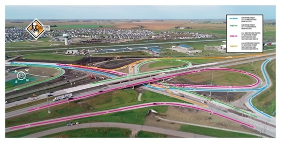 Upcoming NEW I-94 and Sheyenne Street Interchange Access Map
