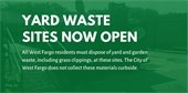 Yard waste sites now open