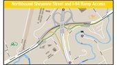 Map of northbound Sheyenne Street and I-94 ramp access that will not change
