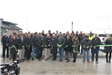 Officials celebrate after cutting the ribbon at the Sheyenne Street grand opening