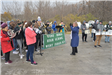 West Fargo High School band plays to celebrate Sheyenne Street ribbon cutting