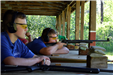 Shooting on the rifle range at the Law Enforcement Explorer's Summer Leadership Camp