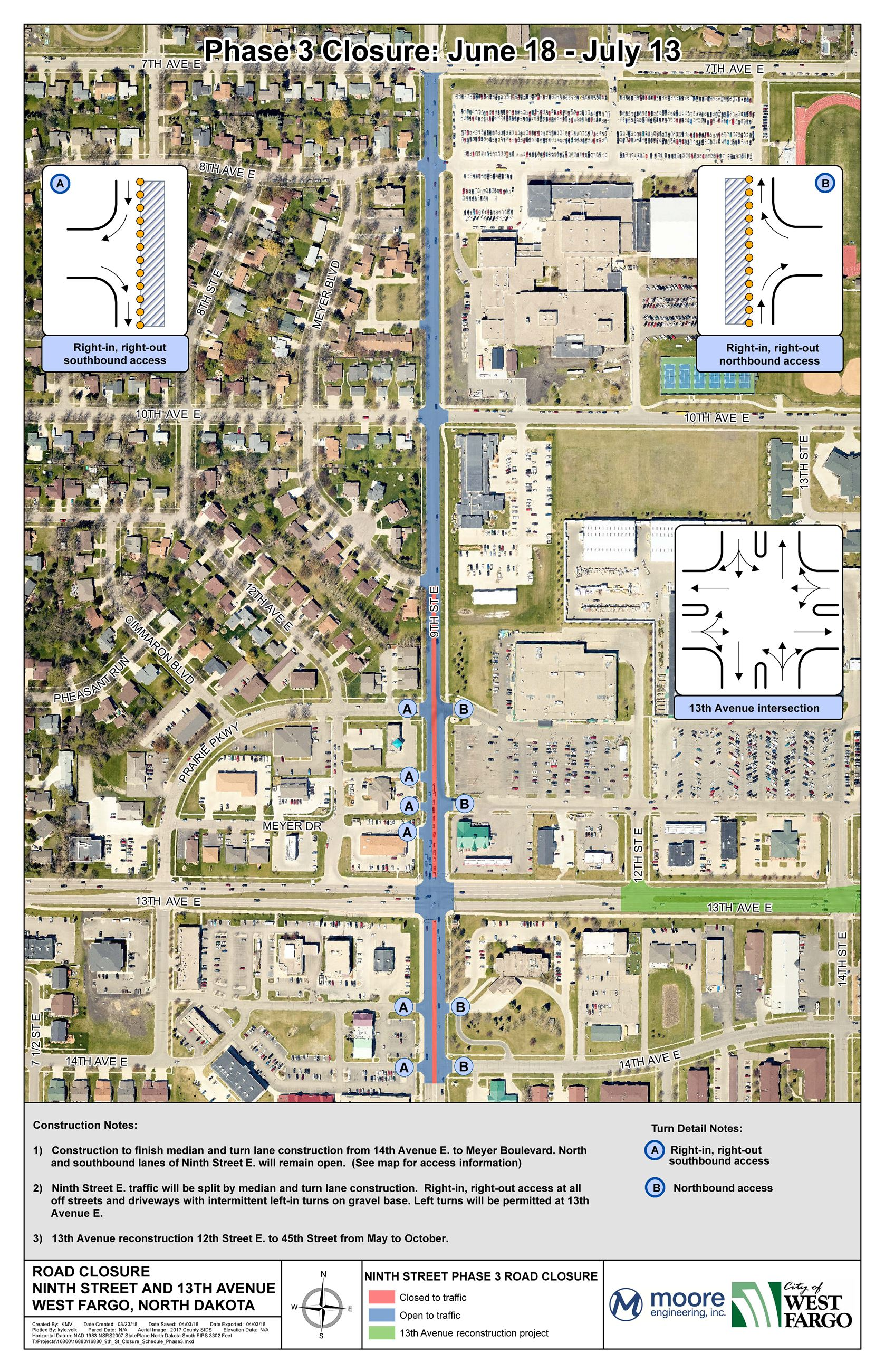 Ninth Street. E. and 13th Avenue E. Intersection Improvement Phase 3 Traffic Control