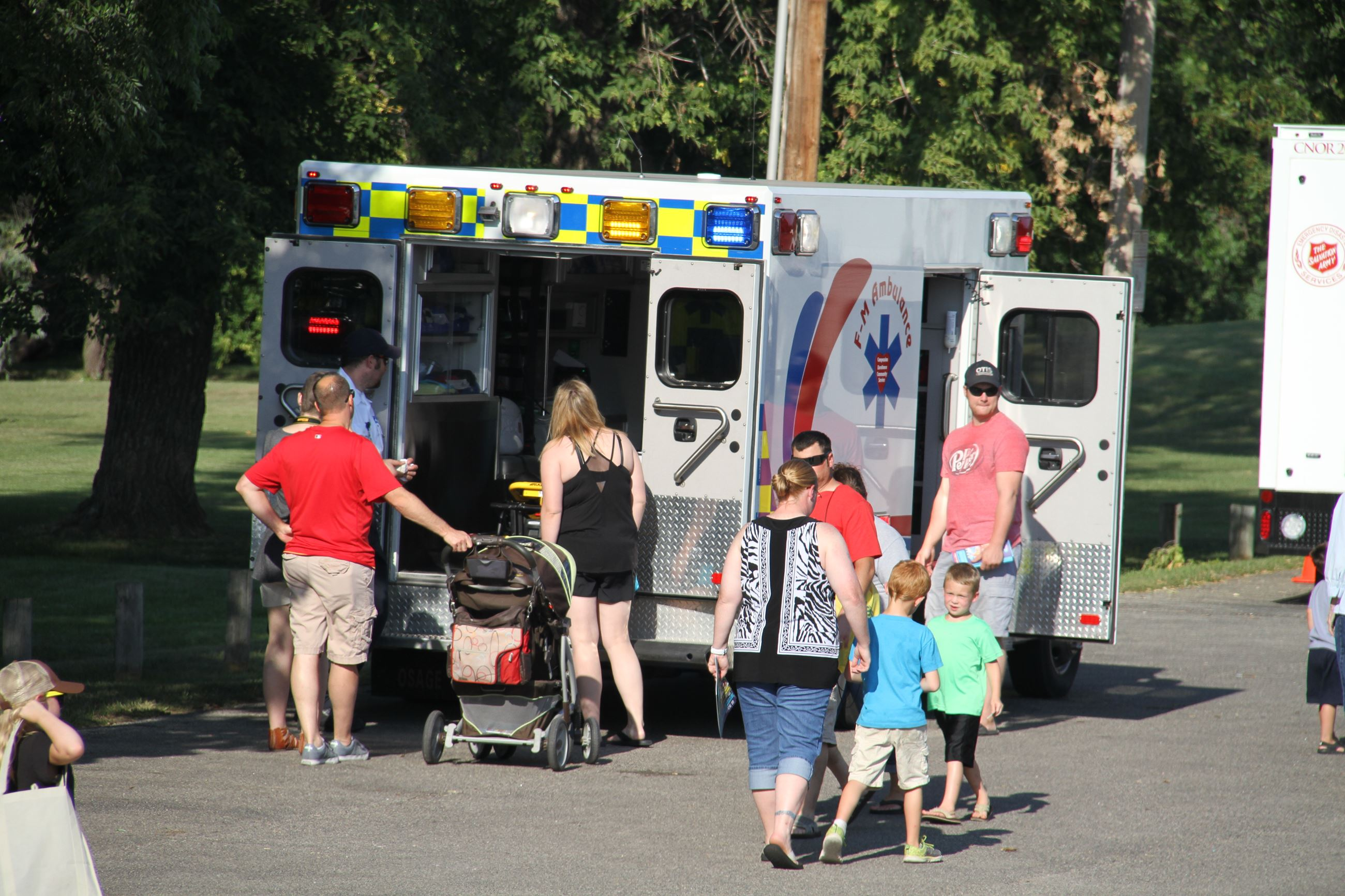 Attendees get the chance to tour F-M Ambulance's ambulance