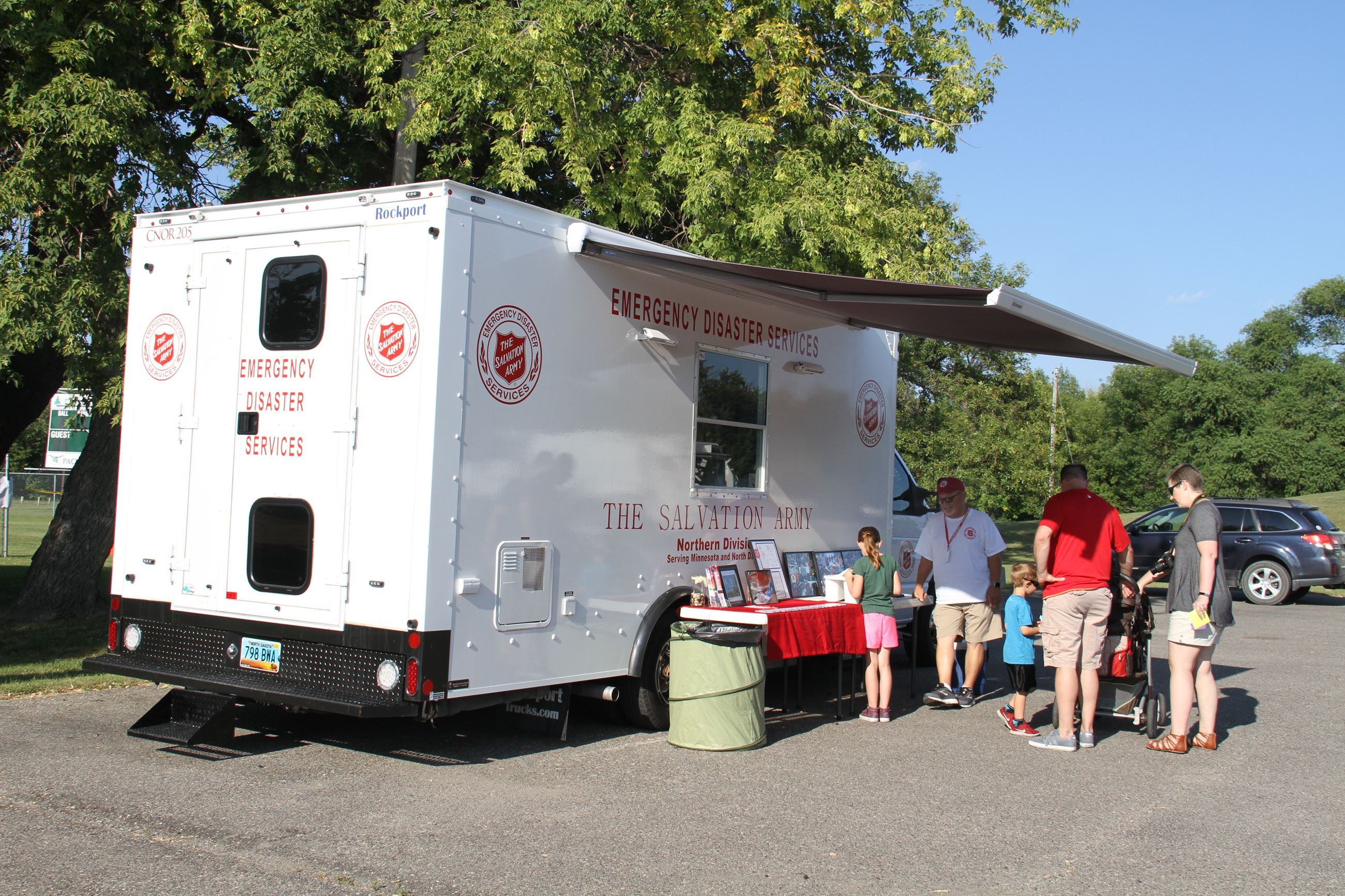 Attendees learn more about The Salvation Army's Emergency Disaster Services