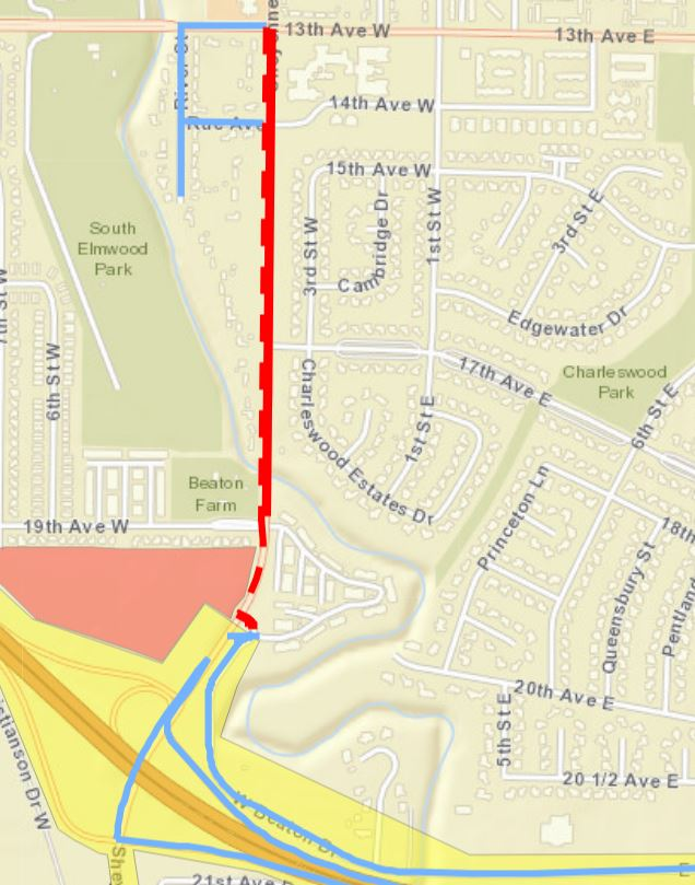 Sheyenne Street road closure