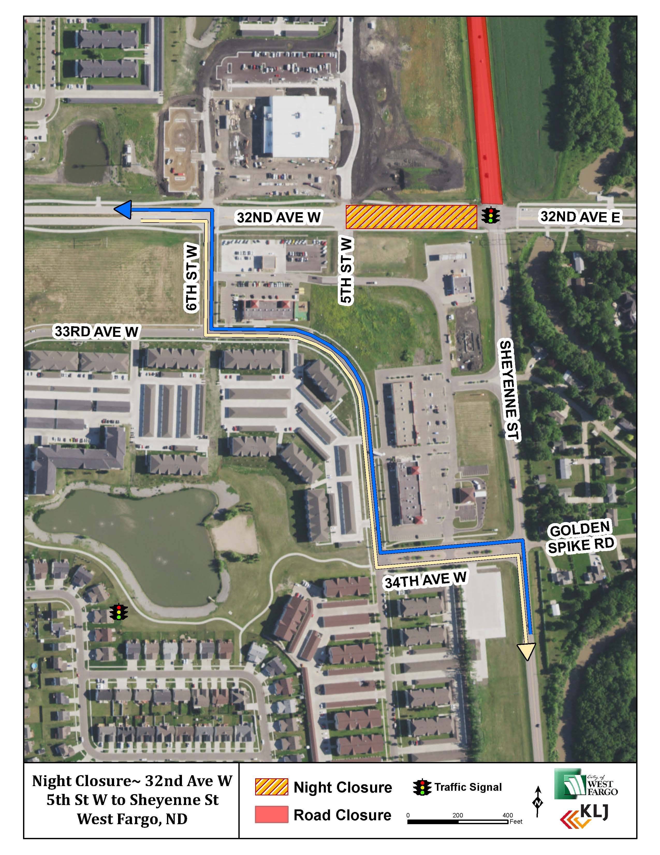 32nd Ave Night Closure Sept. 24
