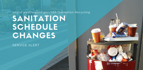 April 11 Sanitation Schedule changes