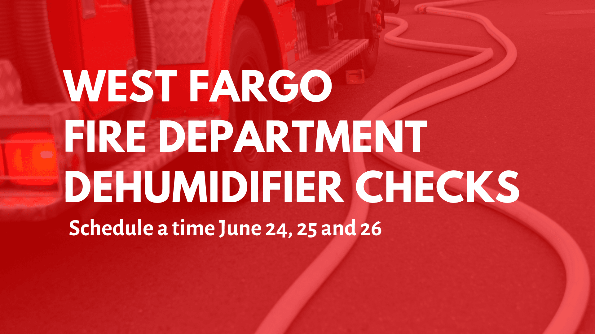 WFFD Dehumidifier Checks