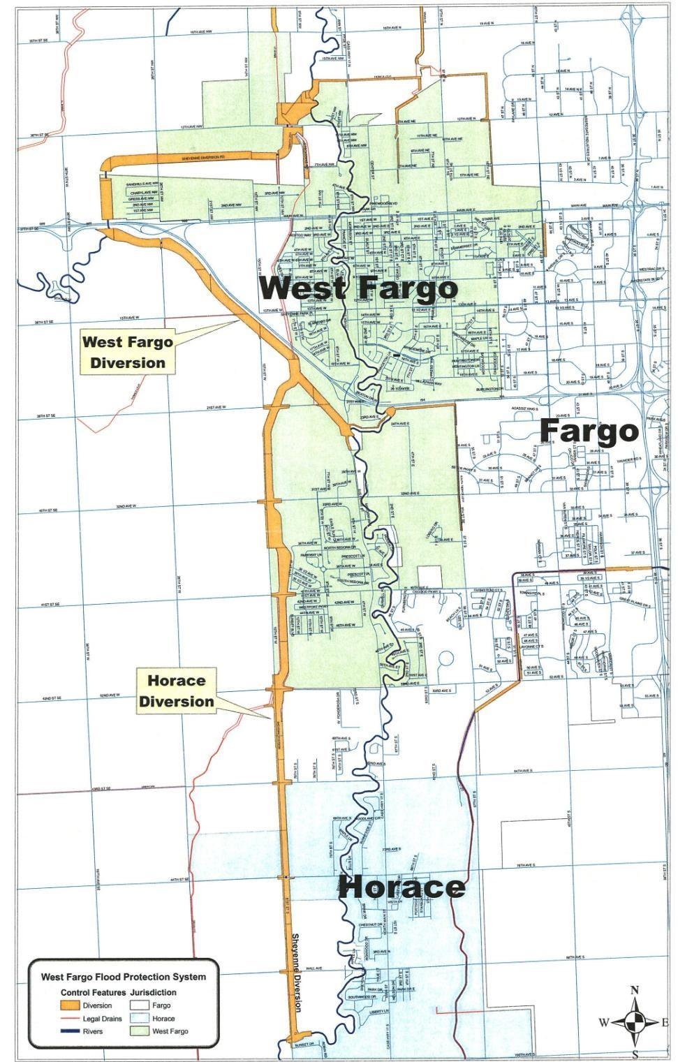 Map Of Fargo Nd Sheyenne Diversion   West Fargo, ND Map Of Fargo Nd