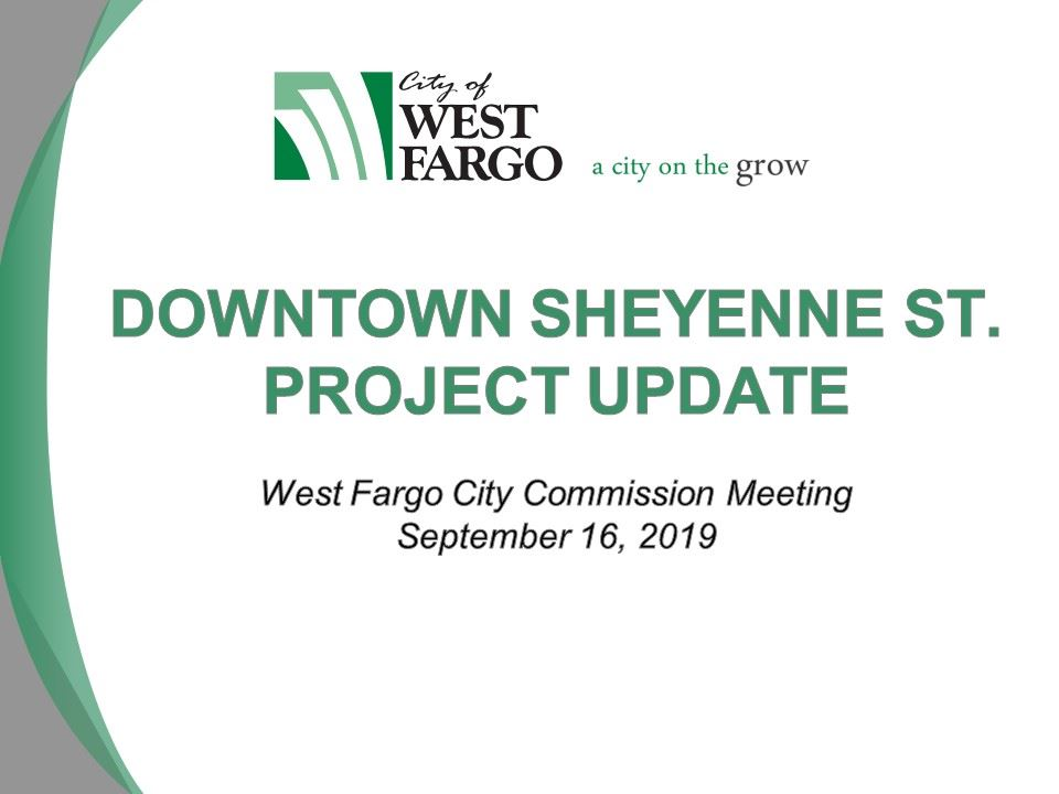 Sheyenne Street Urban Reconstruction project update slide 1