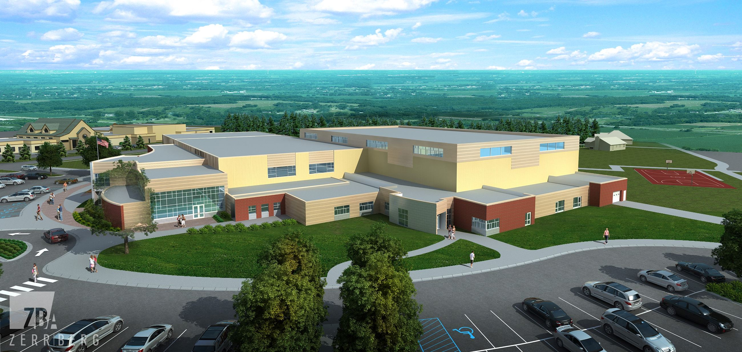 Rustad Recreation Center Phase 2 rendering