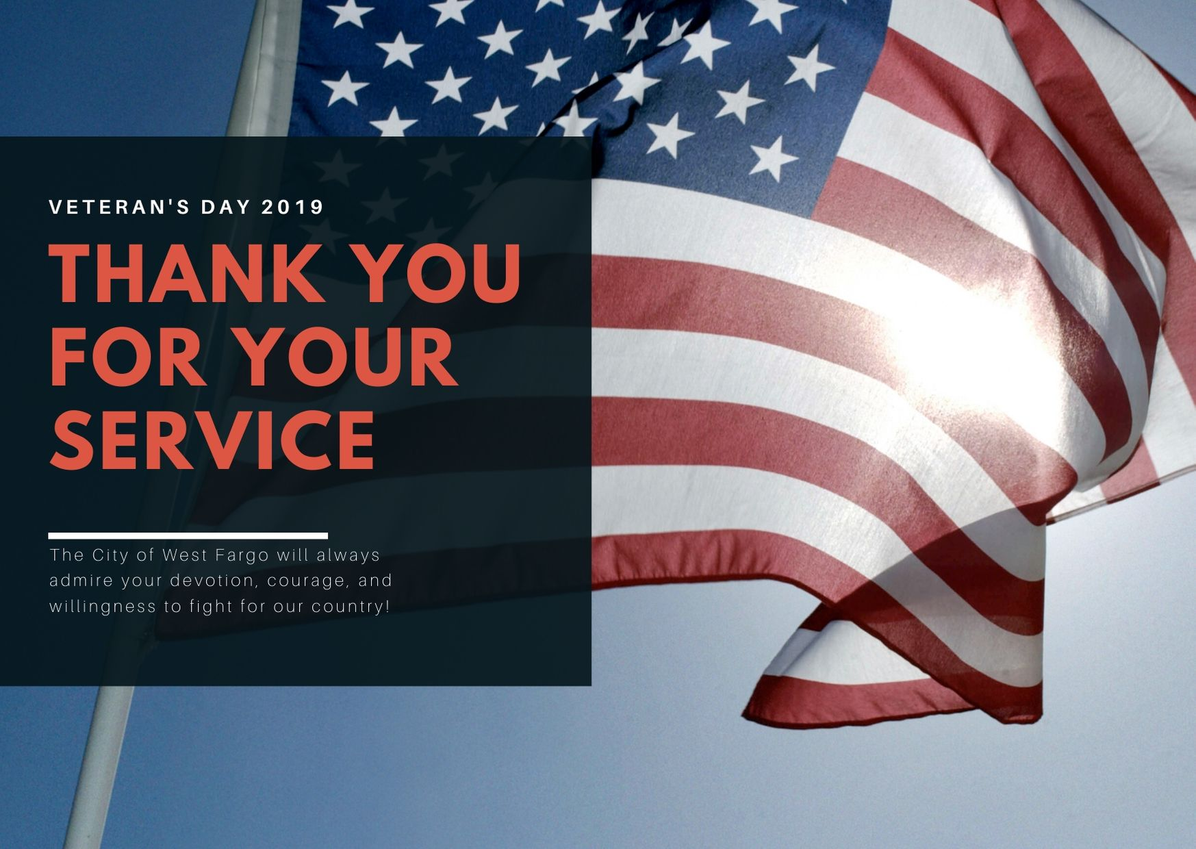 Veterans Day 2019 thank you message for veterans