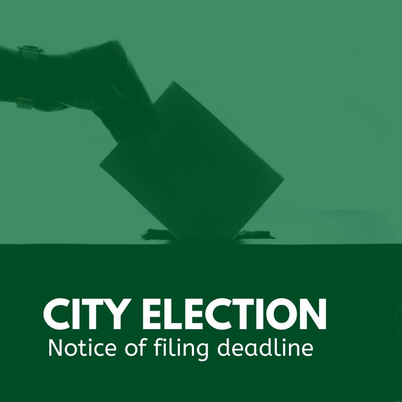City election notice of filing deadline