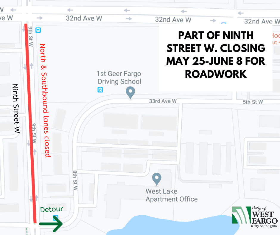 Part of Ninth Street W. closing May 25-June 8 for roadwork (3)