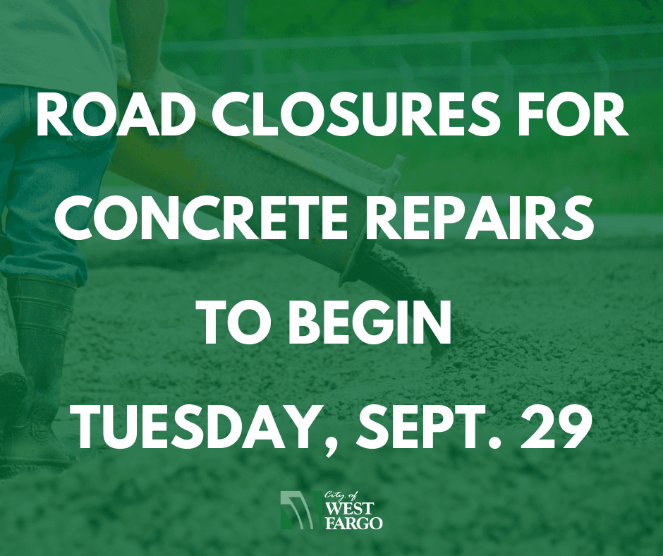 Road closures for concrete repairs to begin Monday, Sept. 28 (1)