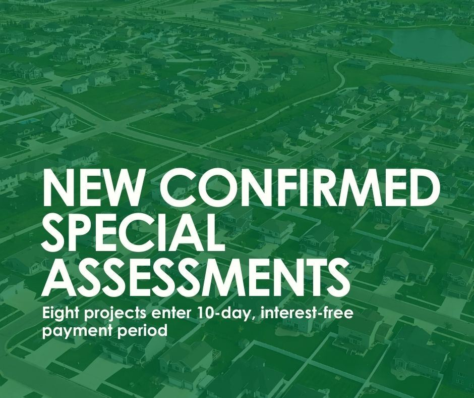 New confirmed special assessments