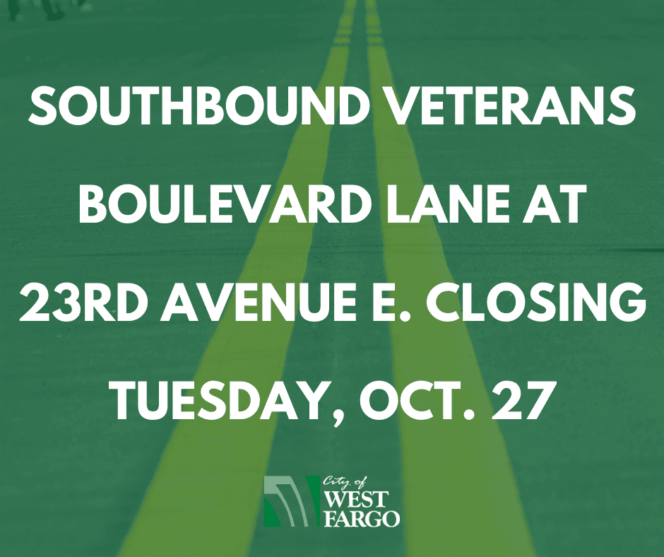 Southbound Veterans Boulevard lane at 23rd Avenue E. closing Monday, Oct. 26 (2)