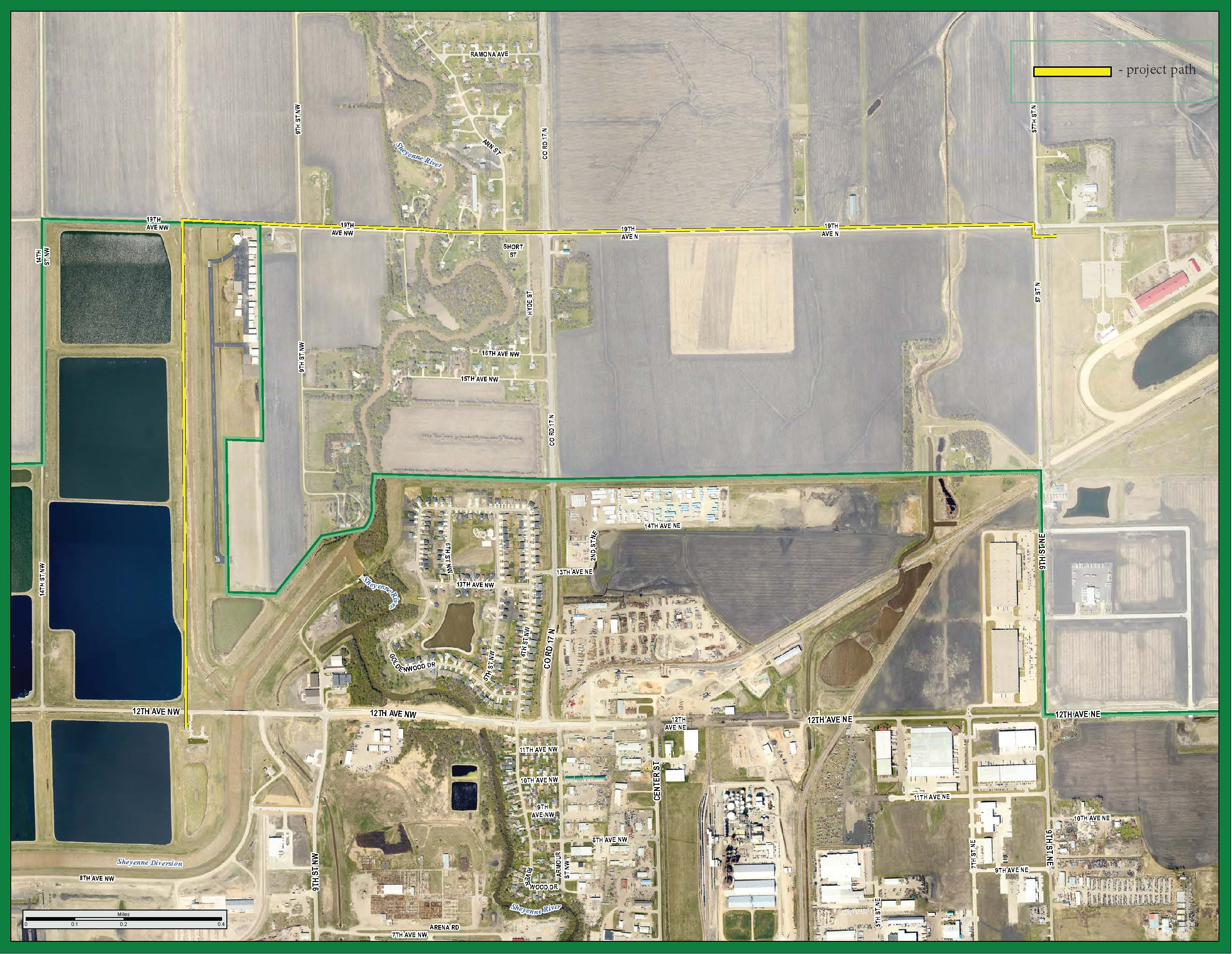 Fargo Waste Connection project map