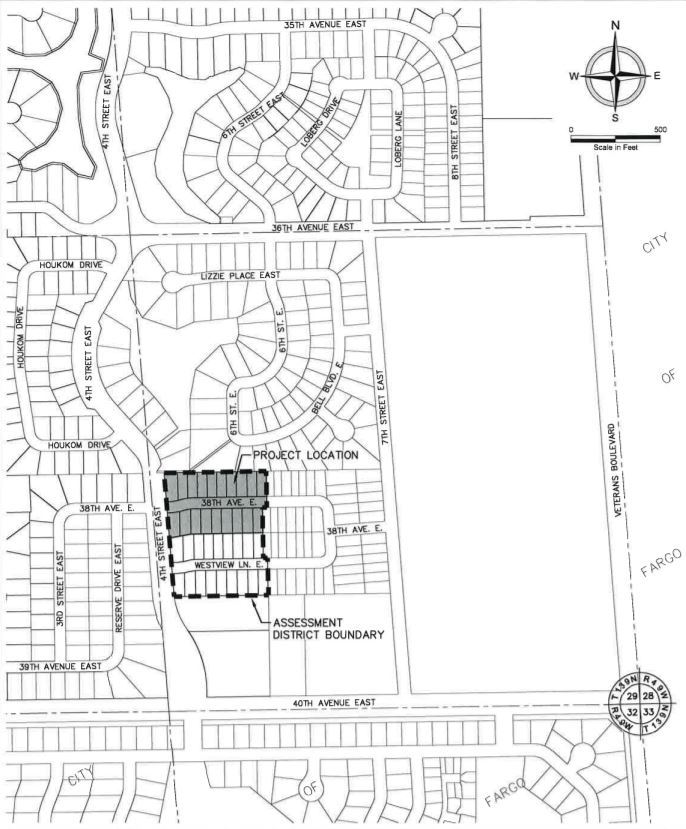 Westview Third Addition Project Map