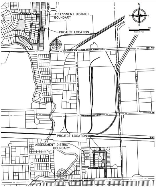 Goldenwood and Pinewood Area Street Overlay map